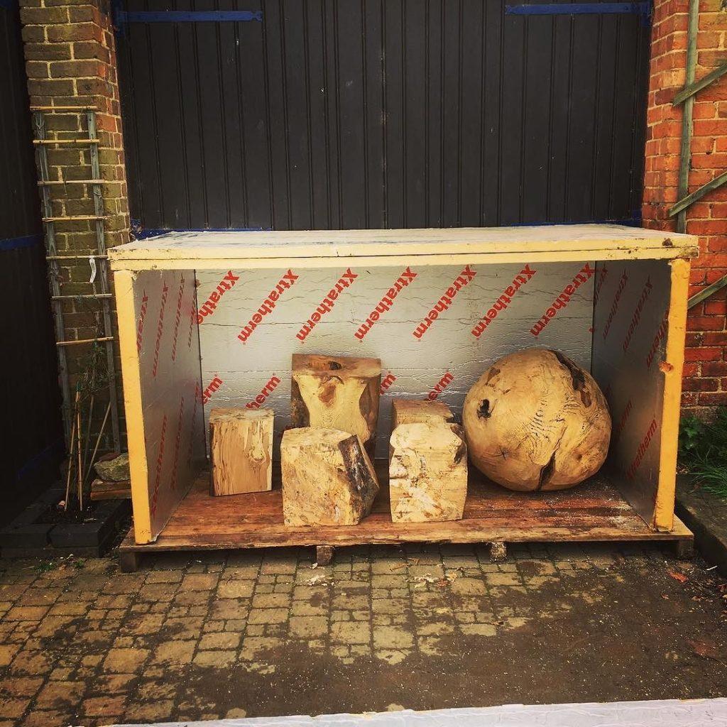 Built myself a little kiln today as a test for sculptures #blaiseintrees #kiln #woodsculpture