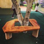 Cherry bench round a Silver Birch I made recently. #blaiseintrees #waneyedge #liveedge #bespoke #handmade