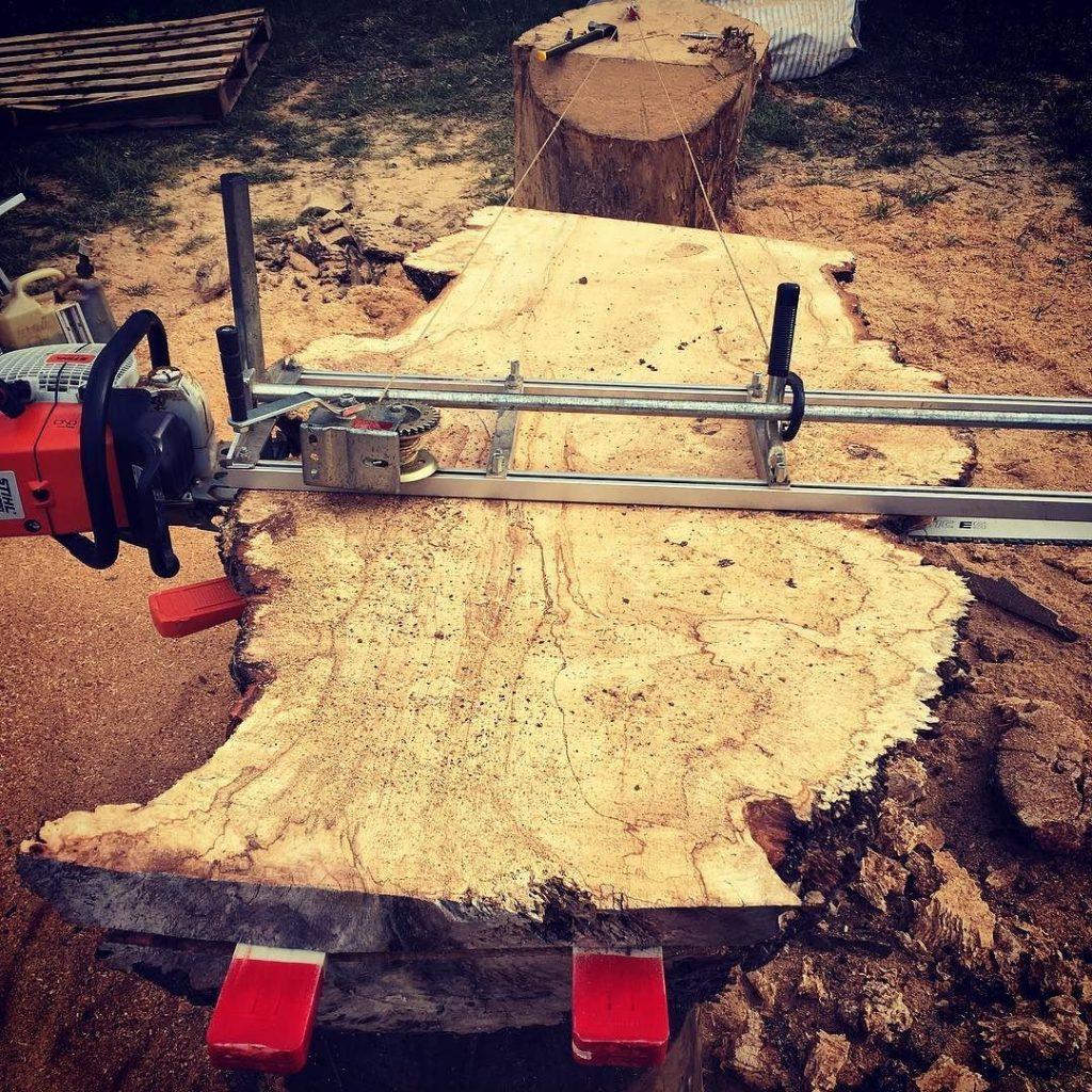 Slabing again #blaiseintrees #liveedge #horsechestnut
