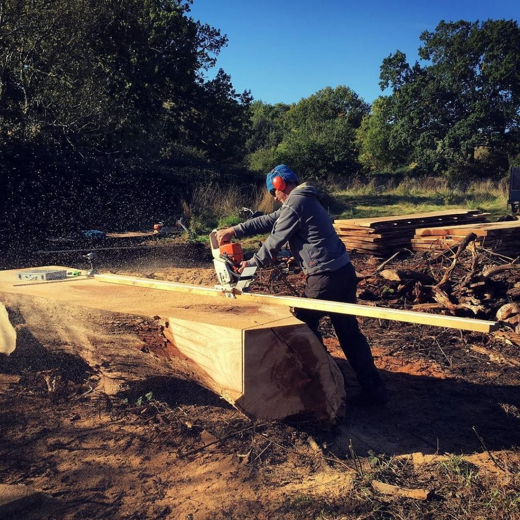Edging mill from @granberginternational what a great bit of kit. #alaskanmill #stihl #arblife #arborist #milling #liveedge