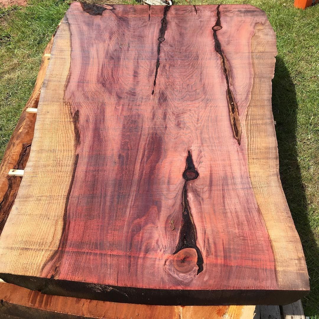 Stunning Redwood slab milled yesterday (no filter) #redwood #alaskanmill #slab