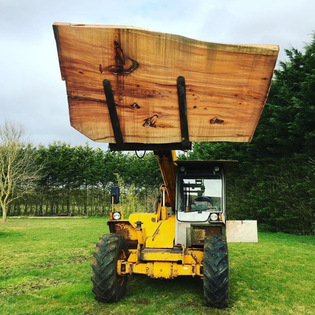 When the slab makes the loader look small. #stihl #jcb #tabletop