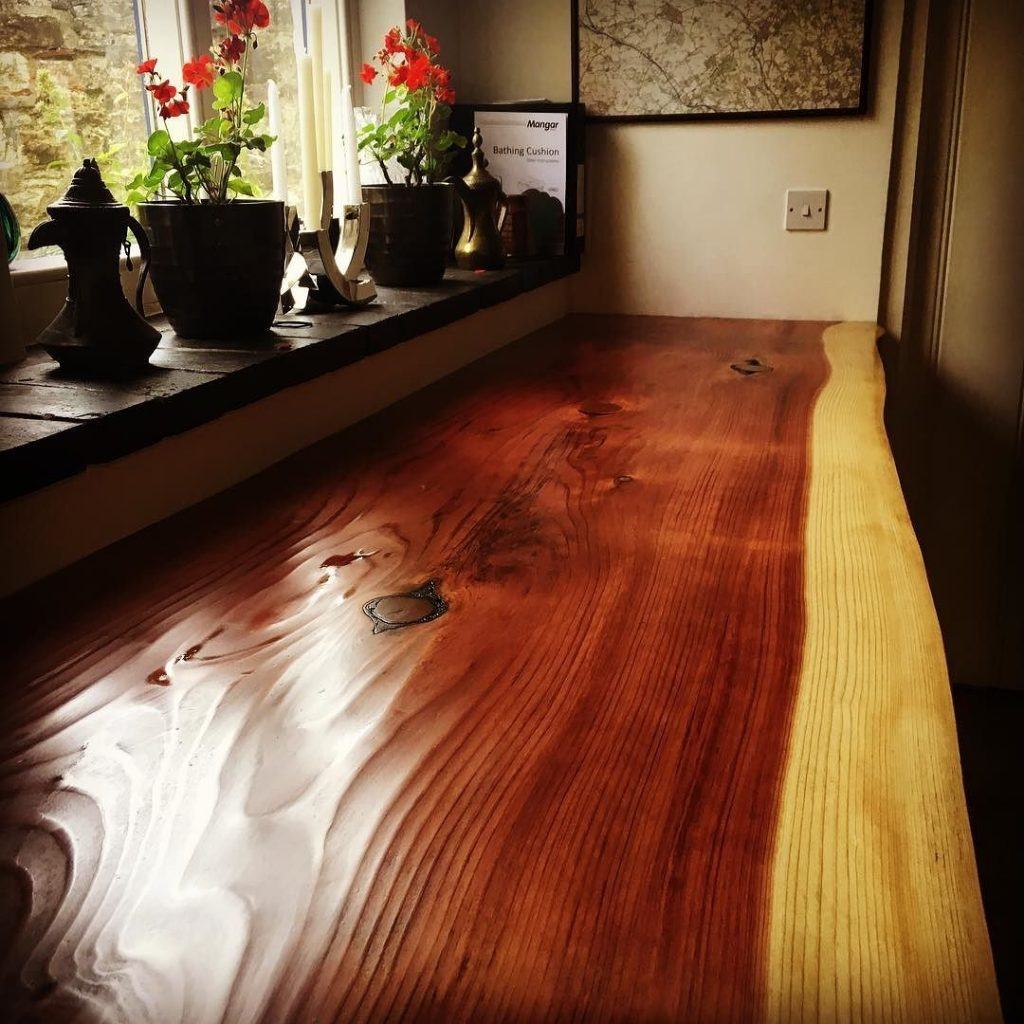 Redwood slab in mums house #alaskanmill @granberginternational