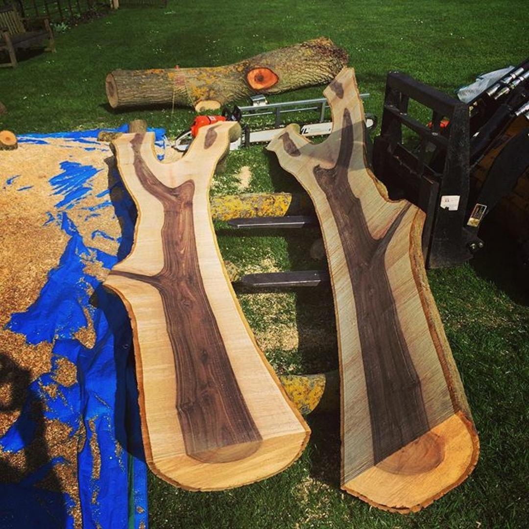 Walnuts walnut #alaskanmill #interiordesign #woodporn #chainsawmill