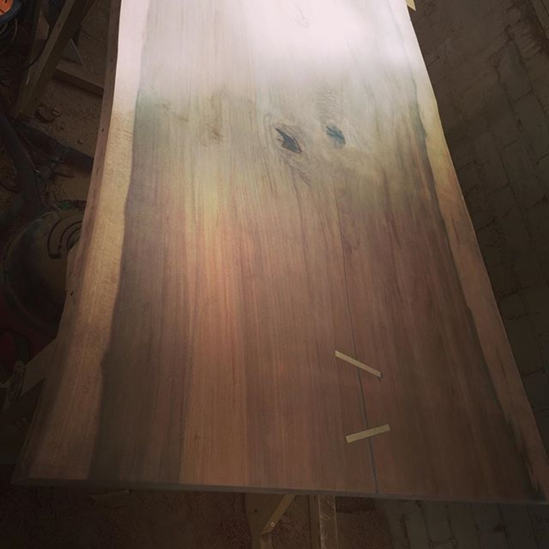 Beech slab I sold lady week the customer finish it all and has messaged for another slab fine the same trunk. Check the website for slabs. #alaskanmill #sawmillbusiness