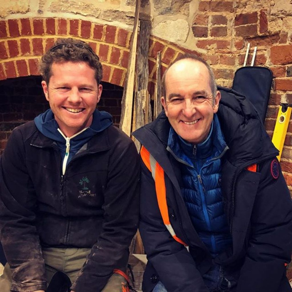 I'm super excited about Grand Designs next week I've got a couple of tables in there and it was a pleasure to meet Kevin and the team. #granddesigns #dintonfolly