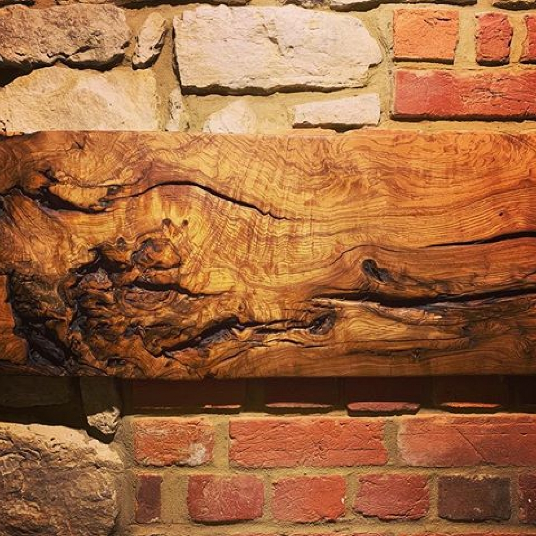 An original Blaiseintrees wall pice looking good on 500 year old farmhouse wall. #alaskanmill #sawmillbusiness