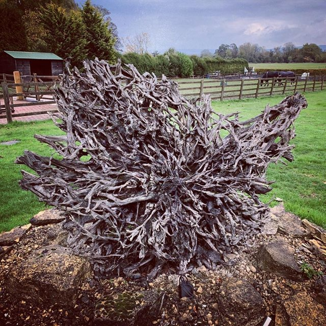 Revisited one of my first sculptures recently #sculpture #gardendesign